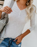 Heidi Cotton + Modal Henley Top - Clay