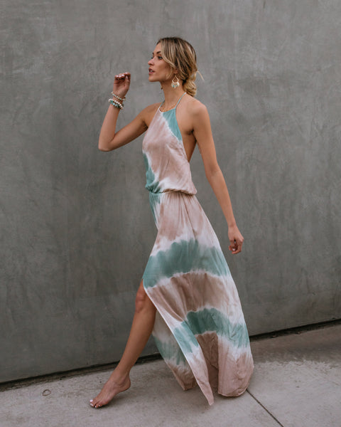 Vitamin Sea Tie Dye Halter Maxi Dress