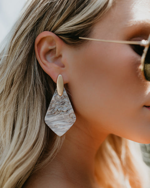Havasu Resin Earrings - Grey
