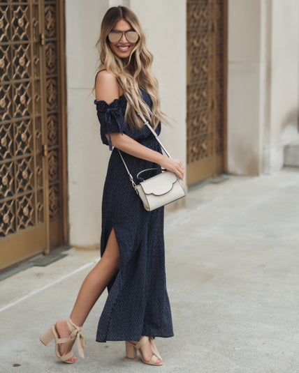 Hearts Content Off The Shoulder Maxi Dress