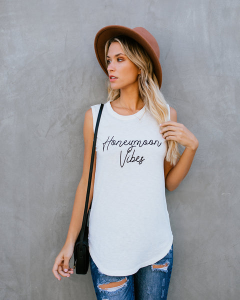 Honeymoon Vibes Cotton Tank