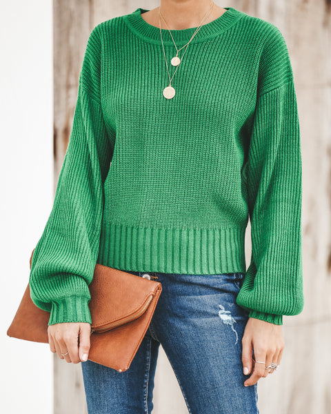 Lafayette Knit Sweater - Green