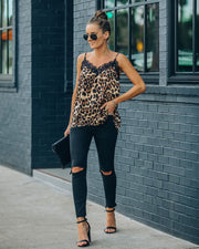 South Leopard Lace Cami Tank - FINAL SALE view 8