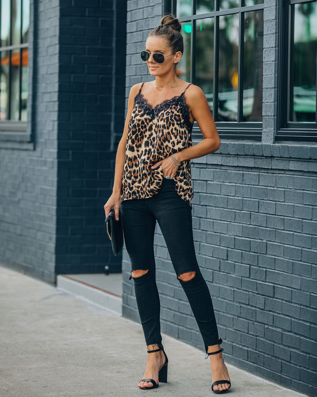 South Leopard Lace Cami Tank - FINAL SALE view 6