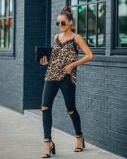 South Leopard Lace Cami Tank - FINAL SALE view 10
