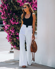 Shayne Ramie + Cotton High Rise Flared Pants - FINAL SALE