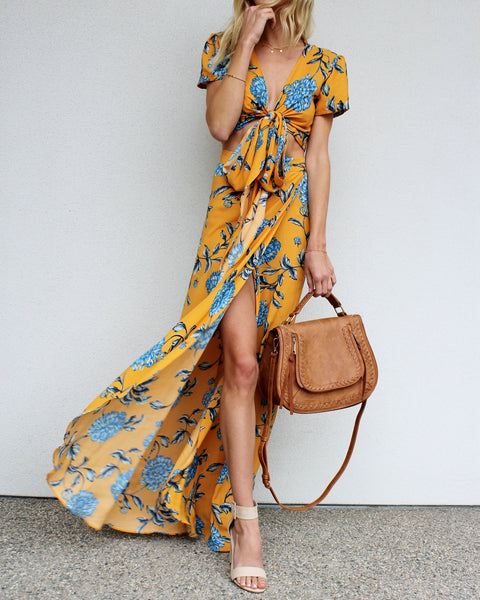 Morning Glow Floral Maxi Skirt