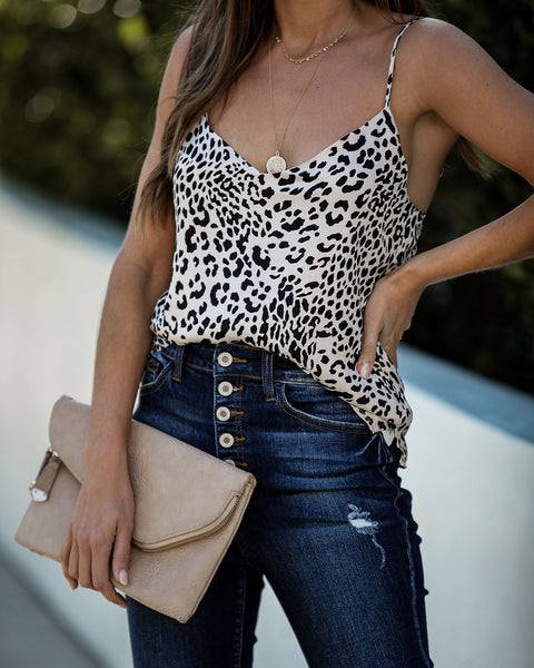Running Out Of Daylight Leopard Cami Tank