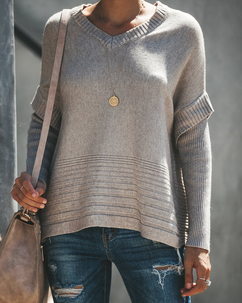 Eldridge Cashmere Blend Sweater - Taupe