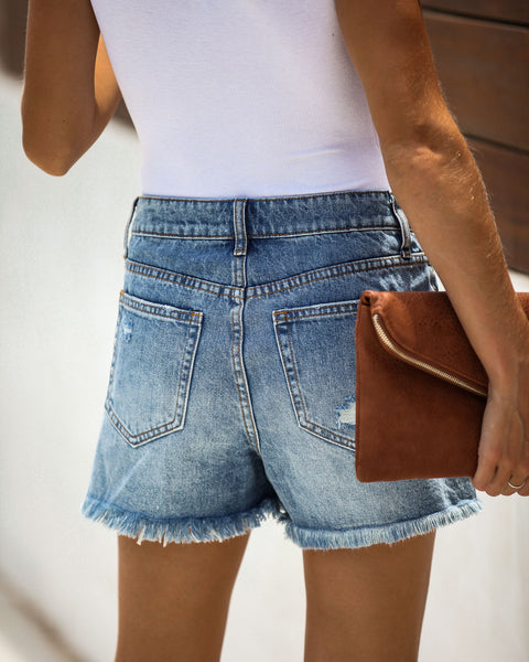 Bonnie Distressed Denim Boyfriend Shorts