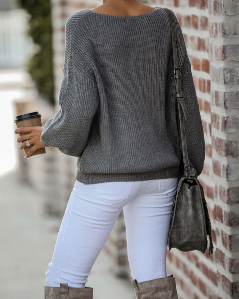 Anne Balloon Sleeve Knit Sweater - FINAL SALE