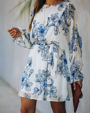 No Tears Left Floral Tie Dress