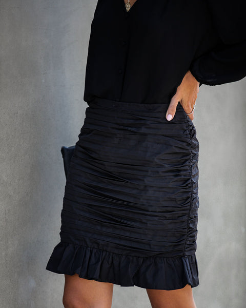 We Go Together Gathered Ruffle Mini Skirt - FINAL SALE