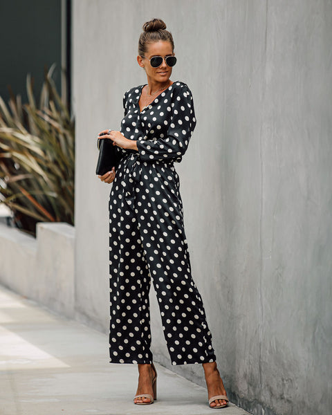 Eight Ball Pocketed Tie Jumpsuit - FINAL SALE
