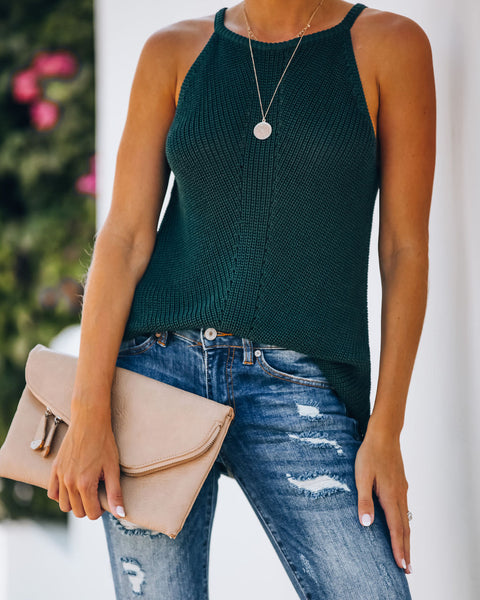 Marty Knit Tank - Hunter Green