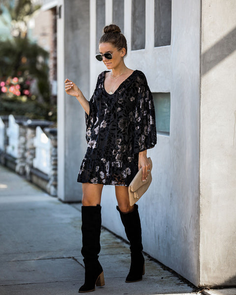Takes Two To Tango Velvet Burnout Tunic