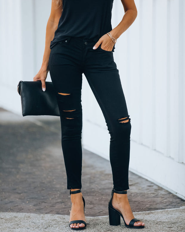 Split Ankle Denim - Black