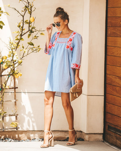 68fc9fb43e Seasons In The Sun Cotton Embroidered Dress