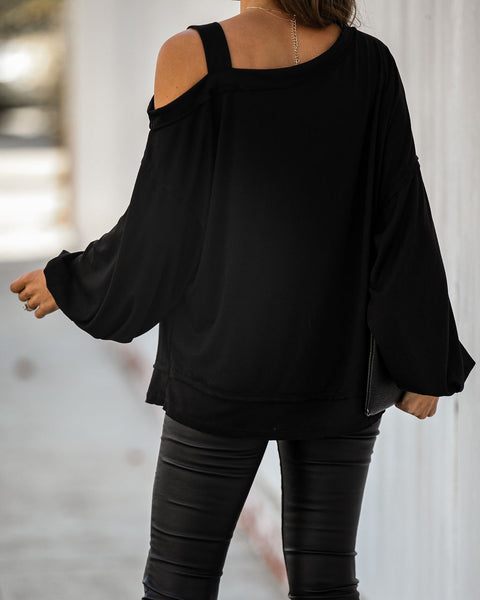Claudia Cold Shoulder Knit Top