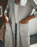 Diablo Pocketed Cardigan - Heather Grey