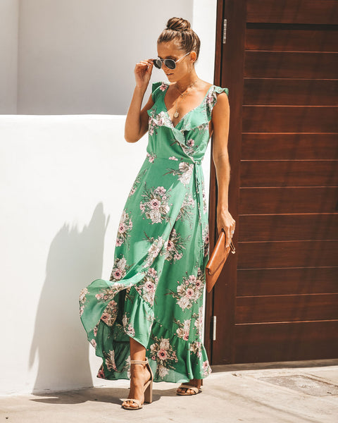 Make It Bloom Wrap Maxi Dress - FINAL SALE