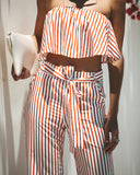 Candy Striper Pocketed Tie Pants
