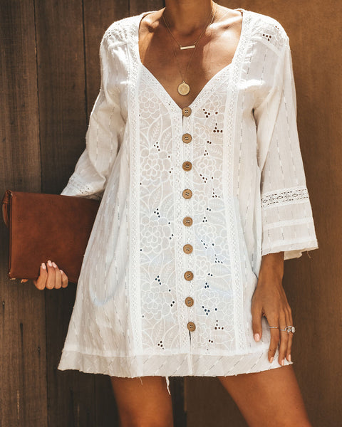 Lauderdale Cotton Button Down Tunic - FINAL SALE