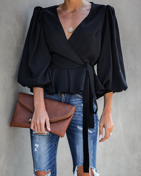 Brooklyn Wrap Blouse - FINAL SALE