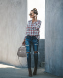 Whatever You Want Cotton Plaid Top - FINAL SALE