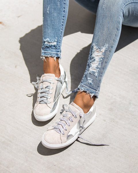 All-Star Faux Suede Metallic Sneakers - FINAL SALE