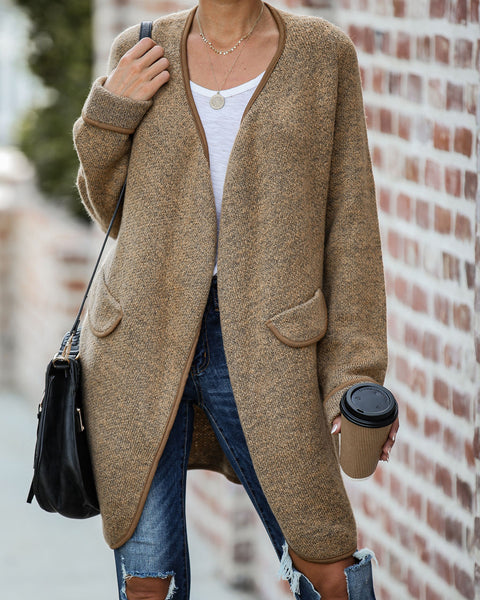 Acts Of Kindness Pocketed Knit Cardigan  - FINAL SALE