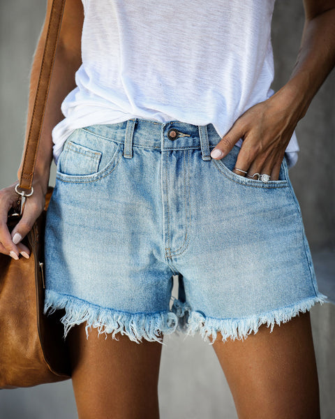Jacob High Rise Cut Off Denim Shorts