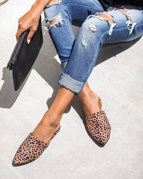 Garfield Faux Suede Pointed Mules