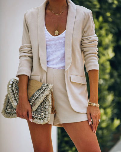 Palmdale Pocketed Knit Blazer - FINAL SALE