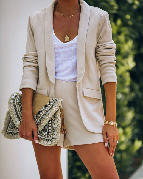 Palmdale Pocketed Knit Blazer