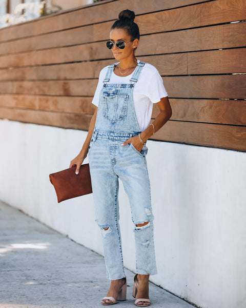Josiah Pocketed Distressed Overalls