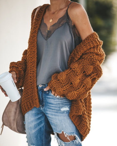 Get Knit Right Cardigan - Mustard
