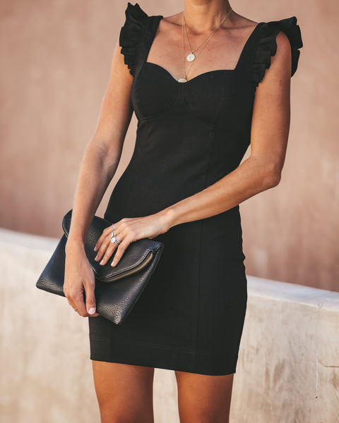 Total Sweetheart Bodycon Dress - Black - FINAL SALE