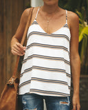Winnie Striped Racerback Tank - Ivory