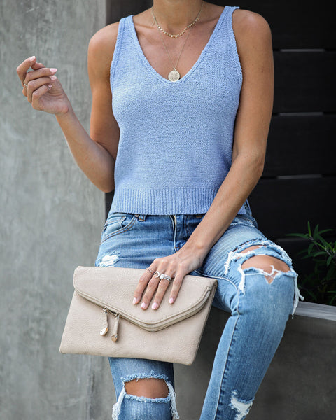With Layers Crop Knit Tank
