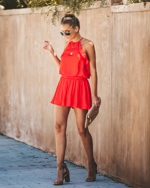 That Lovin' Feeling Smocked Ruffle Romper