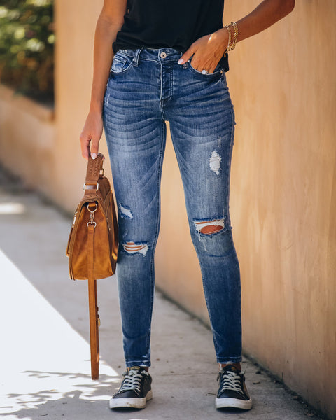 Translation High Rise Distressed Skinny - FINAL SALE