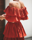 Red Rock Tiered Maxi Dress - FLASH SALE