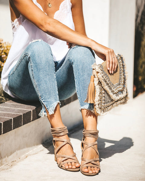 Marbella Strappy Heeled Sandal - Taupe - FINAL SALE