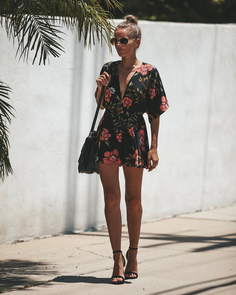 Swoon And Sway Floral Romper