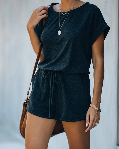 PREORDER - Grab And Go Pocketed Knit Romper