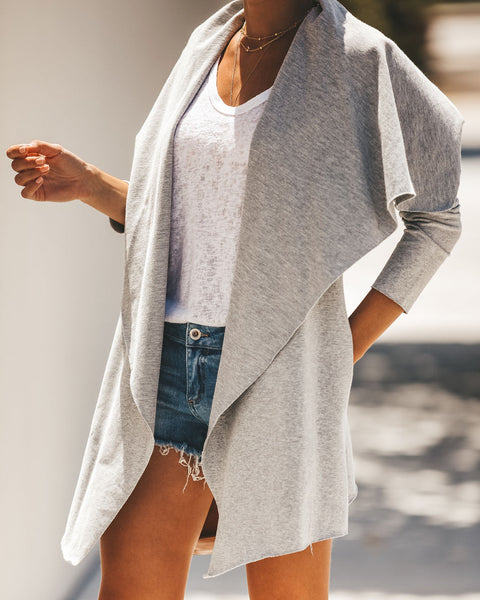 Soft Spun Cotton Pocketed Cardigan