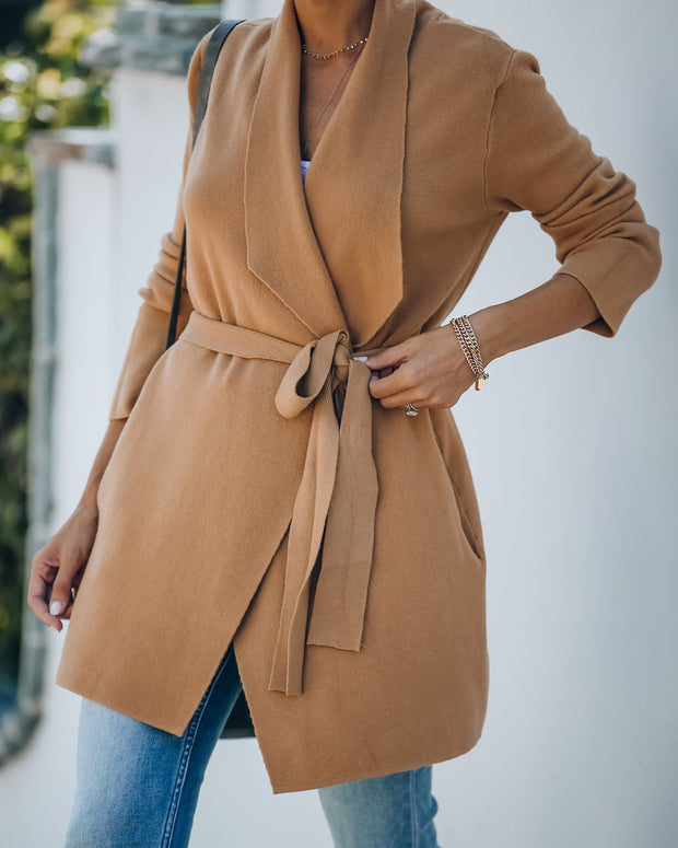 Preston Pocketed Belted Knit Cardigan