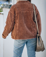 Keeley Cotton Washed Corduroy Jacket - Brown view 2