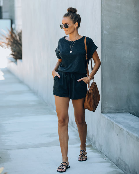 Grab And Go Pocketed Knit Romper